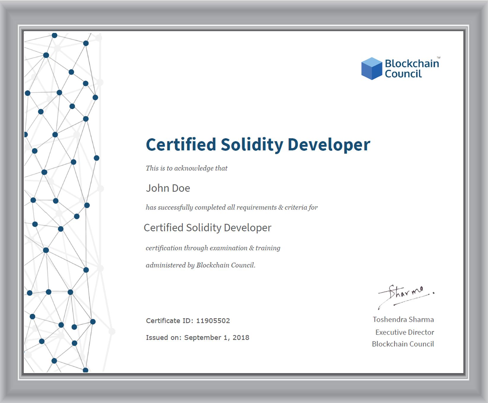 Blockchain developer certification toronto