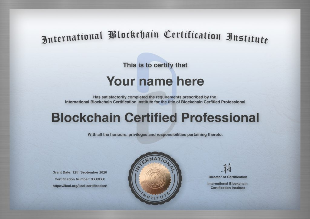 Template Blue Blockchain