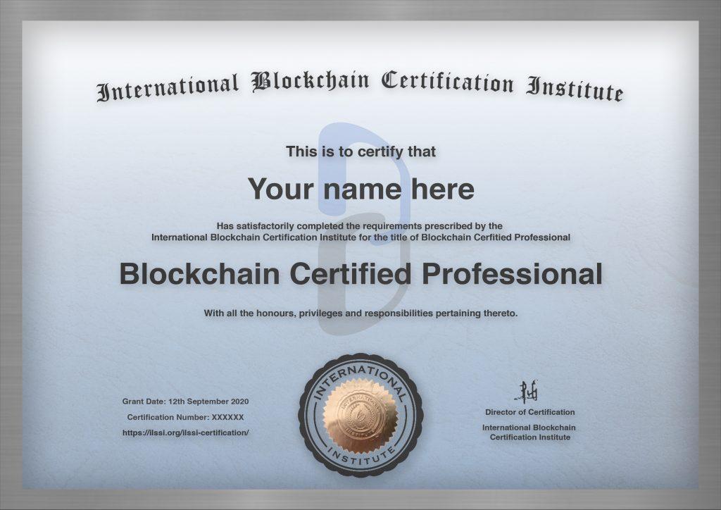 Template Blue Blockchain